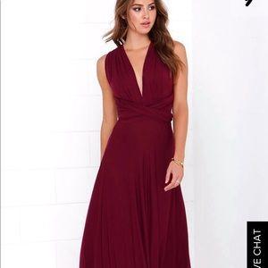 Dresses & Skirts - TRICKS OF THE TRADE BURGUNDY MAXI DRESS.